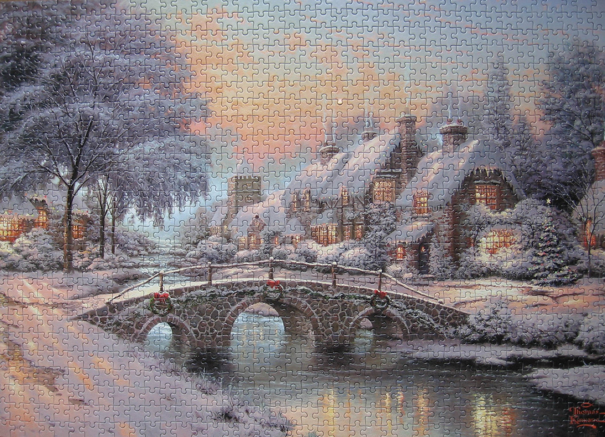 Thomas Kinkade Village Christmas